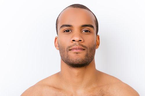 Man with good skin